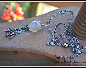 Crystal Twilight Czech Glass Necklace by practically frivolous