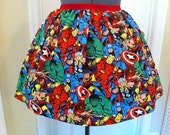SALE - ONE LEFT - Licensed Marvel Avengers fabric skirt- made to order
