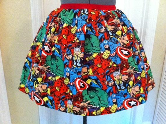 SALE - ONE LEFT - Licensed Marvel Avengers fabric skirt- made to order