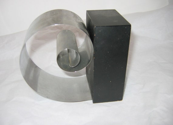 50's vintage Spring Steel holder. Bookend.  Danish Modern. Eames era. Mid century. Sculptural.