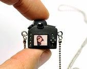 Personalized Nikon D90 Camera miniature necklace