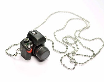 Nikon D5000 DSLR Camera miniature necklace