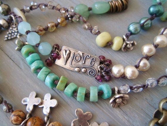 CUSTOM LISTING for LYNN- Payment 3  Mermaid's Paradise wrap necklace bracelet