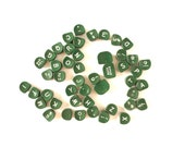 Vintage Green Royal Typewriter Keys, Typewriter Letters and Numbers (1950s) - Perfect for altered art, jewelry, crafts and more