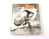"""Vintage """"Halloween Poems"""" book by Myra Cohn Livingston - Black and White Halloween Illustrations and Drawings"""