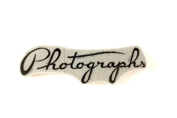 Photographs Cursive Text Rubber Cling Mount Stamp - Perfect for paper crafts, fabrics, and more
