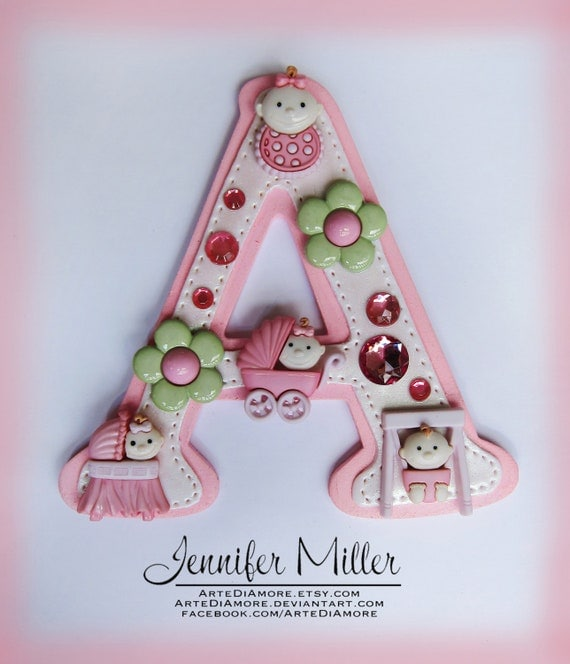 Custom Girl or Boy Baby Shower Letter or Number Cake Topper
