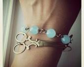 Scissors Around My Wrist-Bronze Scissor Bangle,HAIRDRESSER, stacking Bracelet