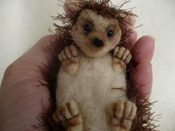 Needle Felted, Hedgehog, OOAK  by Grannancan