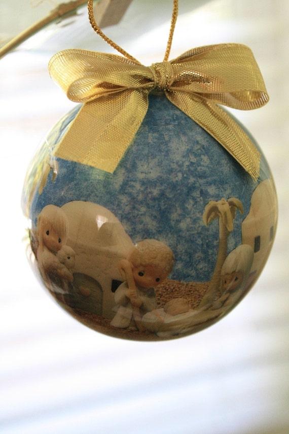 Vintage 1991 Enesco Precious Moments Collection Ornament Nativity