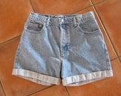 Vintage Cuffed Jean Shorts GAP Denim