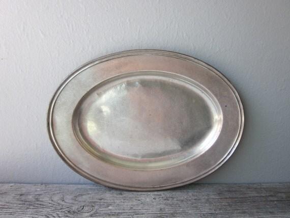 Vintage Hotel Silver Platter