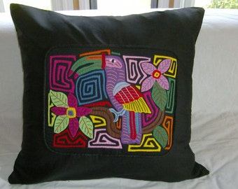 23 x 23 Black embellished pillow cover 201