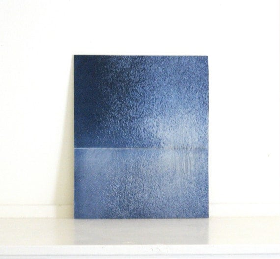 """Sale . Etching Art Print . Minimalist Home Decor: Chiral 21 (in Navy Blues) . Print Size 10"""" x 12"""" ... Free Shipping"""