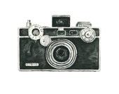 vintage camera watercolor giclee art print // ARGUS camera // home decor -- wall art