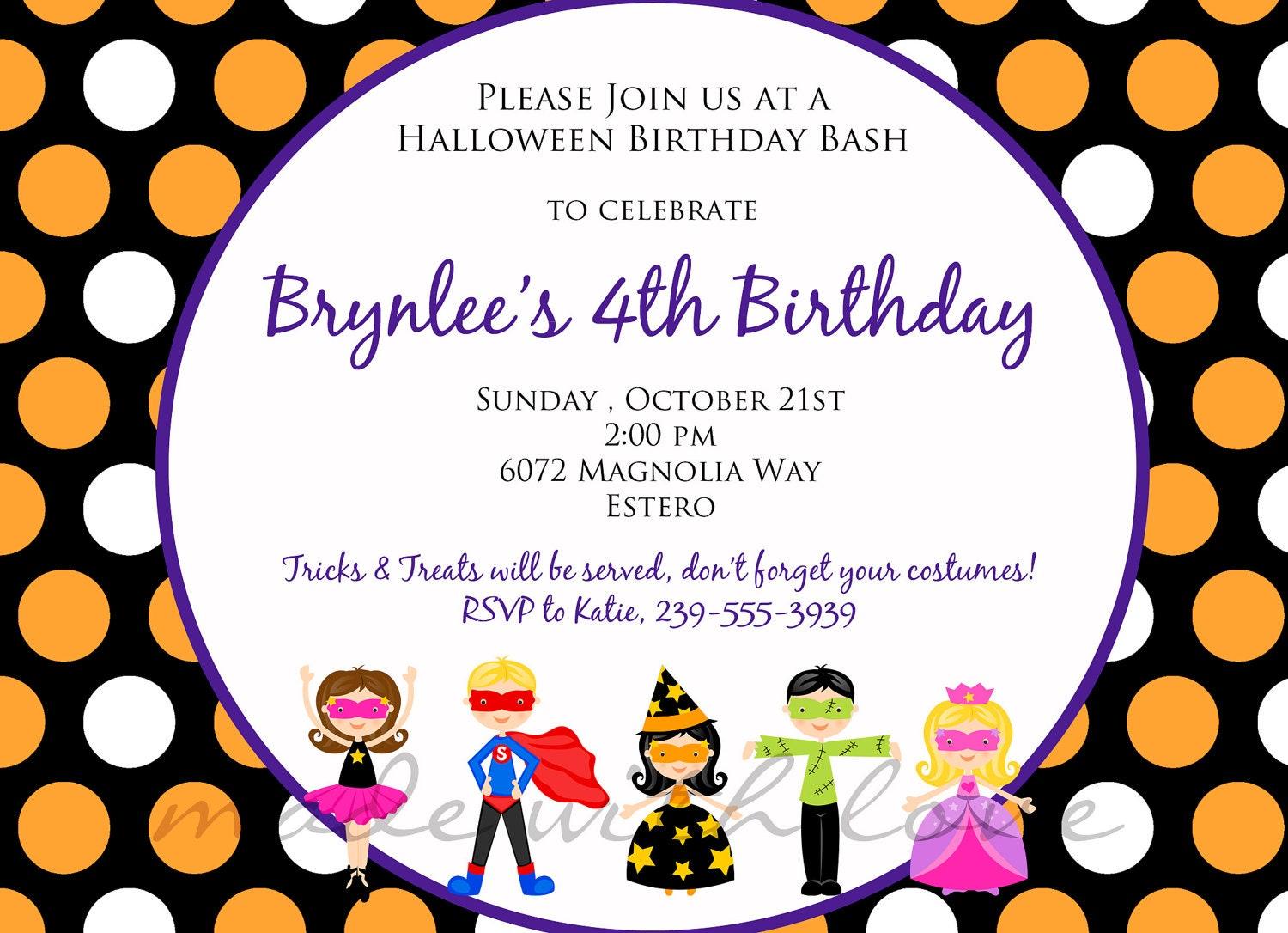 kids birthday party invitations templates