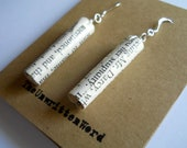 Pride and Prejudice Earrings, book page jewelry