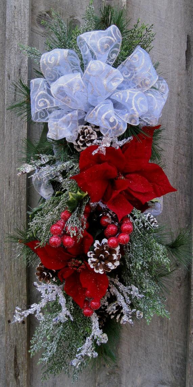 Christmas Swag Holiday Wreath Elegant Christmas D Cor