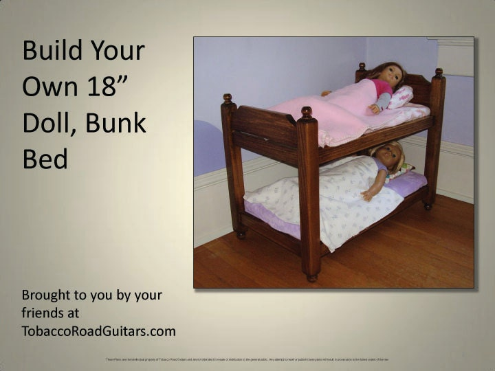 baby doll bunk bed plans