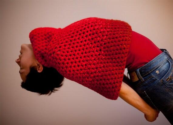 Crochet mini cape