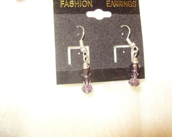 Amethyst Crystal Swarovski Earrings