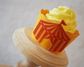 Vintage Circus Tent Cupcake Wrappers Set of 12  By Your Little Cupcake