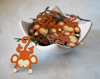 Monkey Tags In Your Choice of Color Qty 6 By Your Little Cupcake