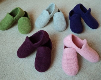 Order Loafer Slippers for Women Felted Knit Wool