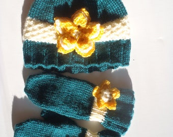Knit Hat and MIttens