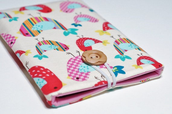 Nexus 7 Cover, Nook Hd Cover, Nexus 7 Case, Nook Hd Case, Kindle Fire, Keyboard, Kobo Arc, Kobo Vox, Blackberry Playbook - Vanilla Birds