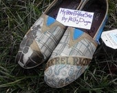 Barrel Racing Blue hand painted TOMS