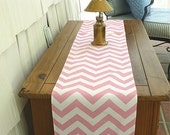 10 x 72 Chevron Light Pink Table Runner Wedding Gift Table Runners Decorative Holidays
