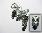 CLEARANCE Antique silver owl charm