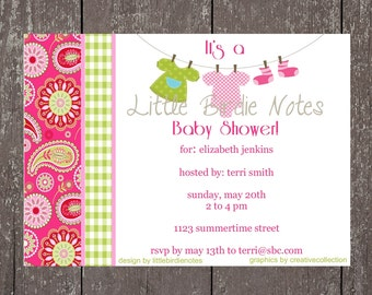 Printable Invitation-Baby Shower Collection-Little Birdie Notes