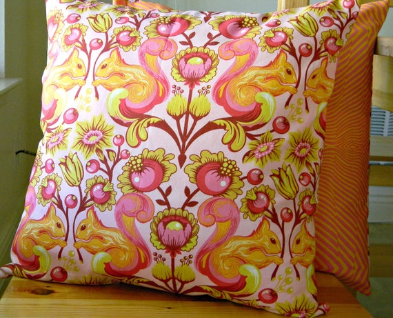 Decorative Pillow Covers - 2 for 20 - Squirrel Sunset, 16 x 16 envelope, The birds and the bees