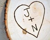 Custom Initials Tree Round Engraving