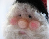 Christmas Ornament - Santa Ornament - Needle Felted Santa - Christmas Decor