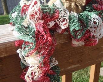 Victorian Christmas Ruffle Scarf