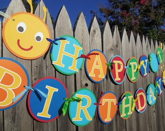 MADE TO ORDER Caterpillar Happy Birthday Banner - Customize Your Way