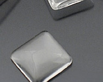75% OFF 12 - 21mm (3/4 inch) Square Glass Domed For Making Photo Pendants or magnets