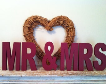 Freestanding Letters - Handpainted - MR & MRS - 15cm - ARIEL