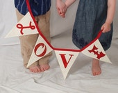 Custom Personalized Fabric Bunting Flags Banner by myturtledoves / NAME / 4 Letters
