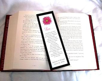 100 Pink Daisy Wedding Bookmarks Favor