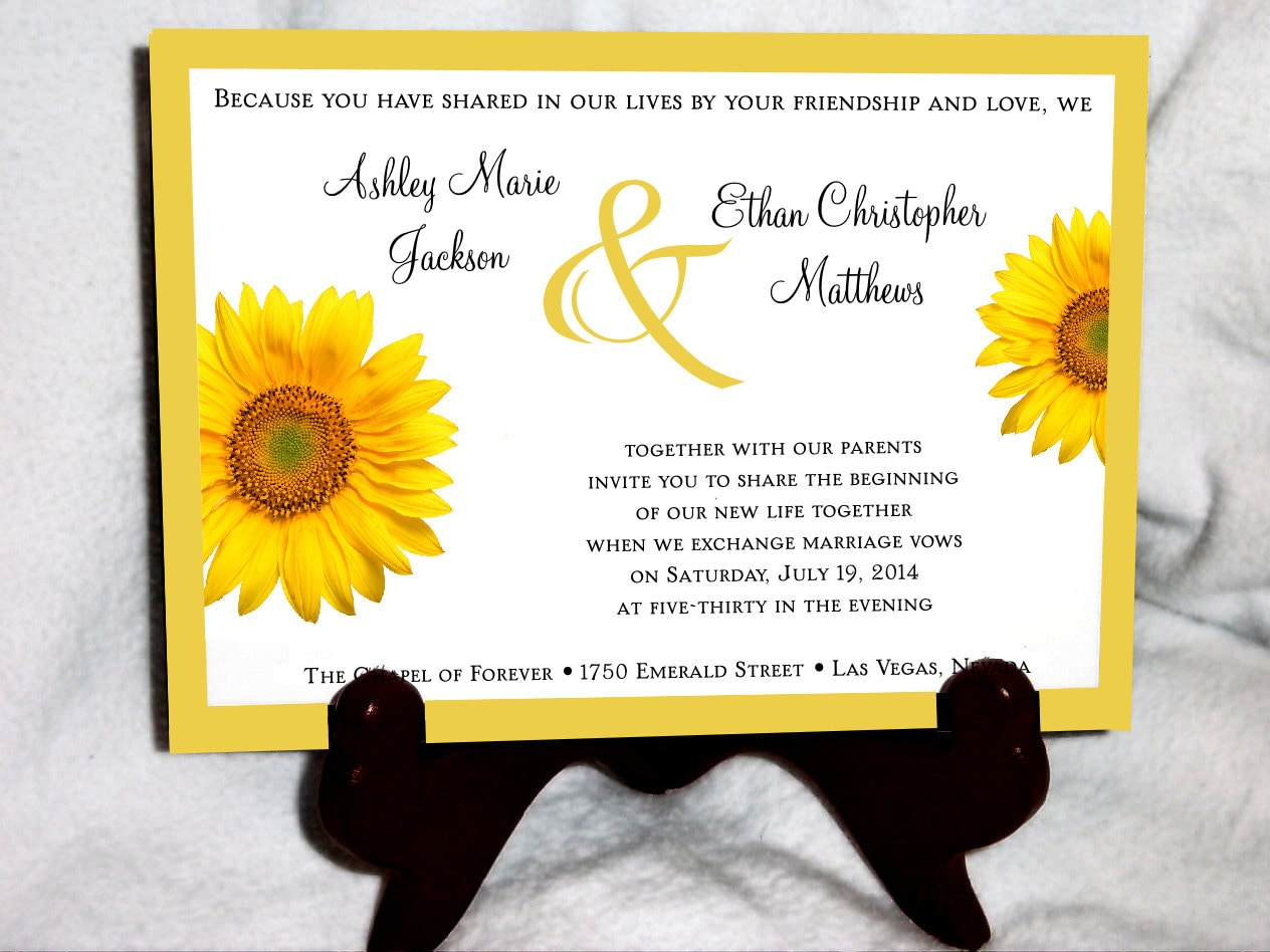 Cheap Sunflower Wedding Invitations: Best Sunflower Wedding Invitations