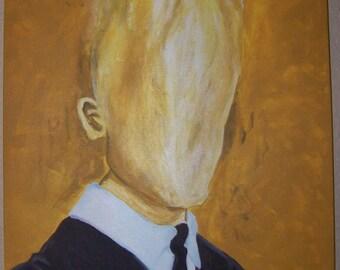 Hot Head acrylic painting