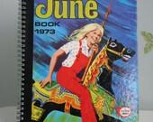 Vintage 1973 June Handmade Notebook / Journal British fairground