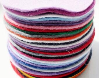 Felt circles set of 35 die cut wool felt shapes size 2.75inch wool felt circles