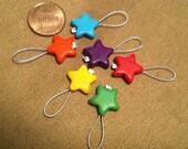 Stitch Markers - Rainbow Stars