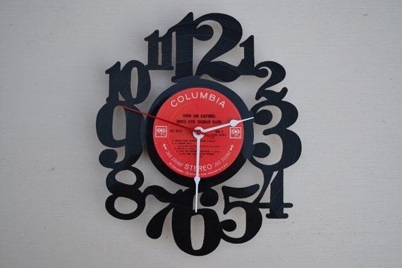 Vinyl Record Album Wall Clock (artist is Simon and Garfunkel)