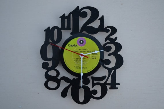 Vinyl Record Album Wall Clock (artist is Grand Funk Railroad)